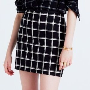 Madewell Women's Sz 6 Double Windowpane Mini Skirt